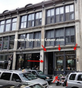 location loft commercial commerce de deail place d'armes